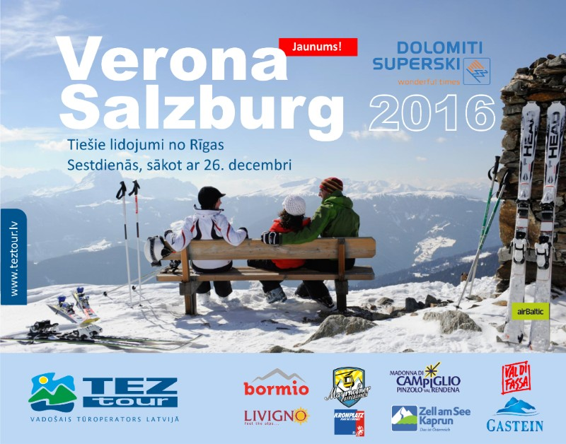 Austrija, Itālija, kalnu slēpošana, akcija